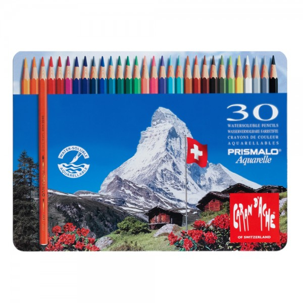 Creioane Colorate PRISMALO AQUARELLE 30 culori Caran d'Ache [0]