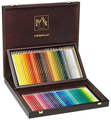 Creioane Colorate PRISMALO AQUARELLE 80 culori - Cutie Lemn Caran d'Ache [0]