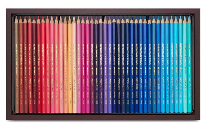 Creioane Colorate SUPRACOLOR 120 culori Wooden Box Caran d'Ache 1