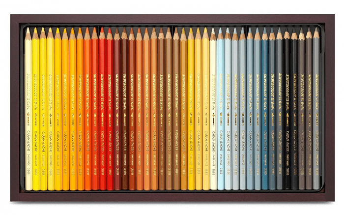 Creioane Colorate SUPRACOLOR 120 culori Wooden Box Caran d'Ache 0