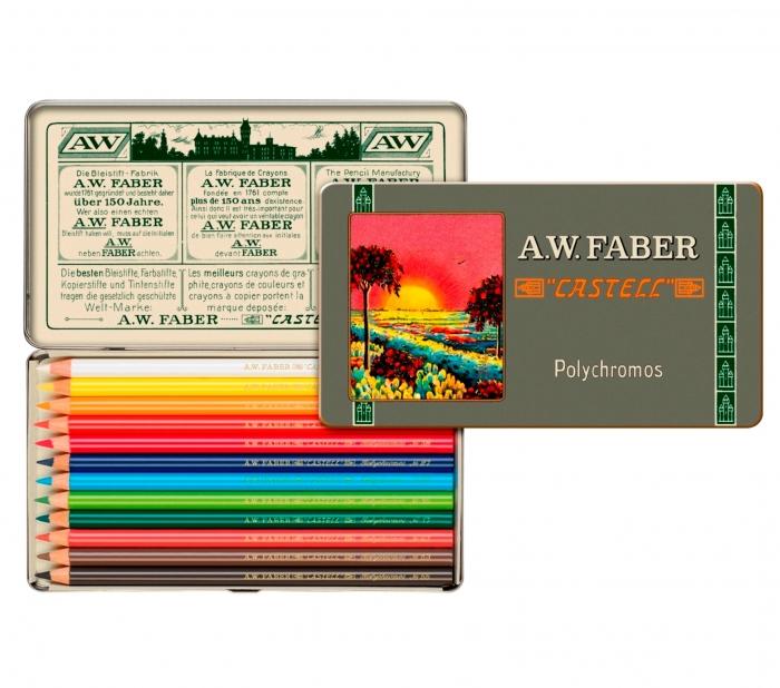 creioane colorate Polychromos set12 culori ,111 ani, fabercastell.ro 0
