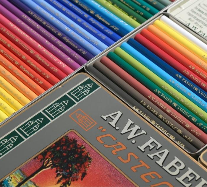 creioane colorate Polychromos set12 culori ,111 ani, fabercastell.ro 2