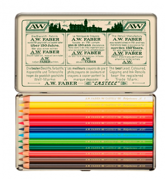 creioane colorate Polychromos set12 culori ,111 ani, fabercastell.ro 4
