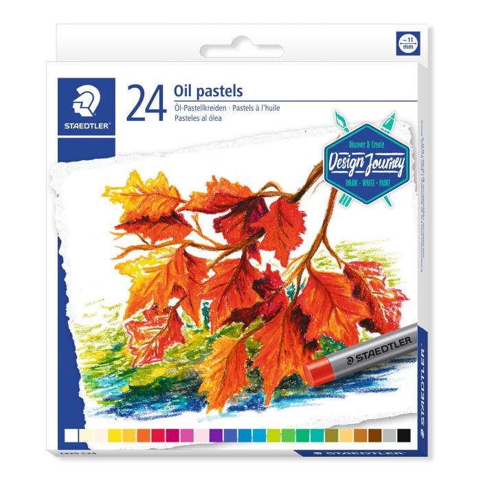 Creioane Karat Ulei Pastel 24 culori/set Staedtler [0]