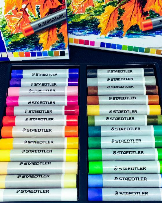 Creioane Karat Ulei Pastel 24 culori/set Staedtler [1]