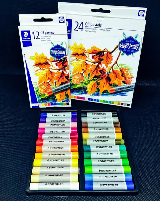 Creioane Karat Ulei Pastel 24 culori/set Staedtler [2]