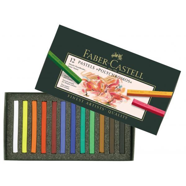 Creioane Pastel 12 Culori Polychromos Faber-Castell [0]
