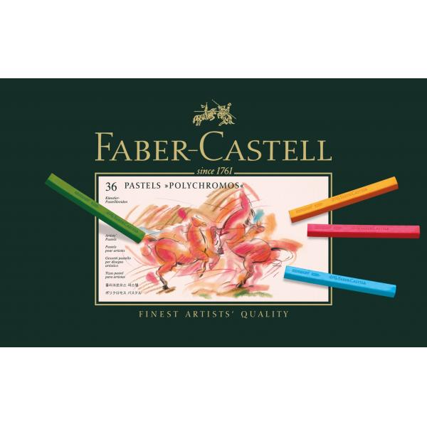 Creioane Pastel 36 Culori Polychromos Faber-Castell 0