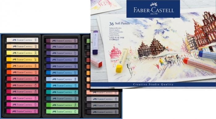 Creioane Pastel Soft 36 Culori Faber-Castell 1
