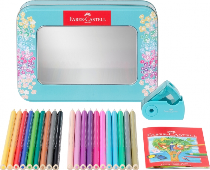 Set Cadou 20 Creioane Colorate Sparkle + Ascutitoare Sleeve Faber-Castell [2]