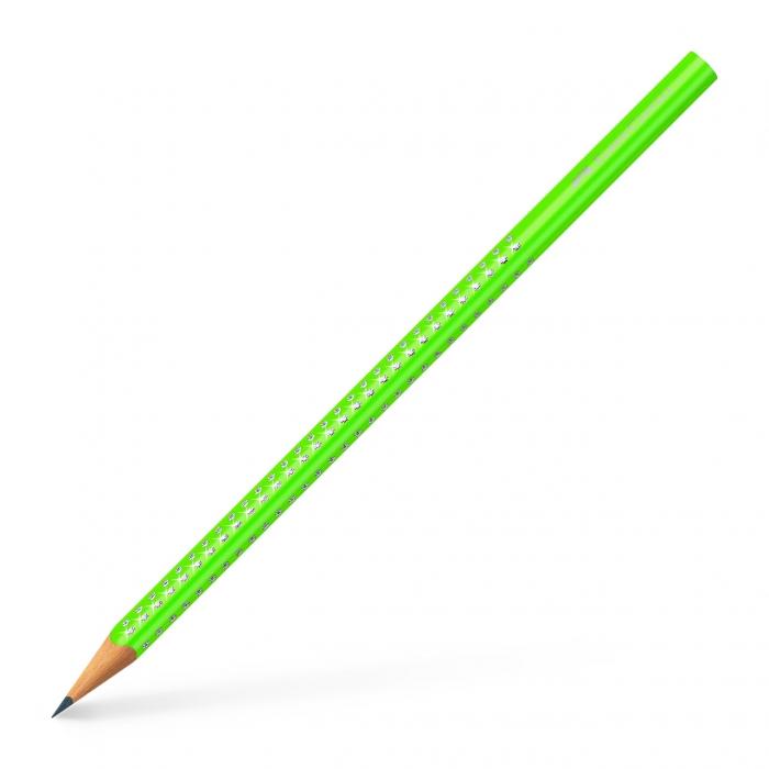 Creion Grafit B Sparkle Verde Neon Faber-Castell [0]