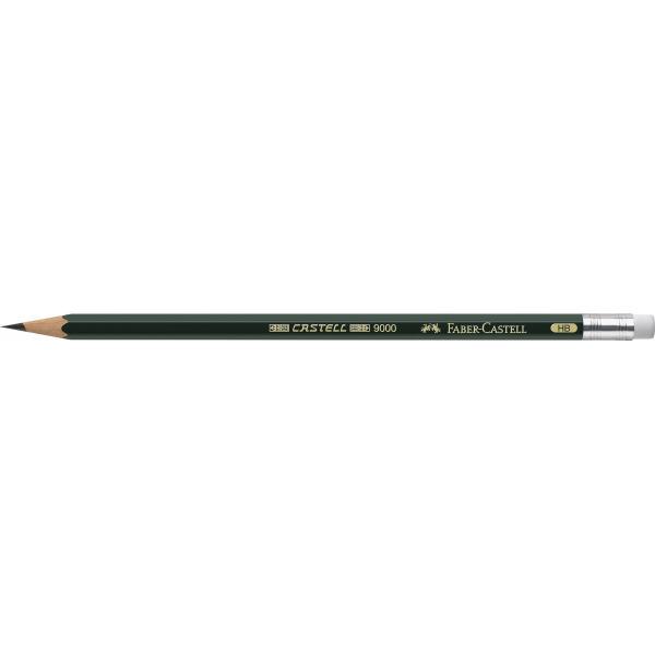 Creion Grafit Castell 9000 cu guma Faber-Castell 2