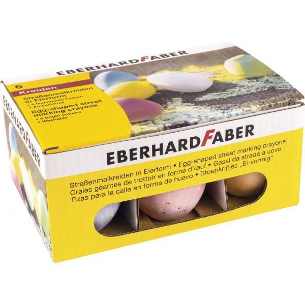 CRETA 6 CULORI FORMA OU DESEN ASFALT EberhardFaber 0