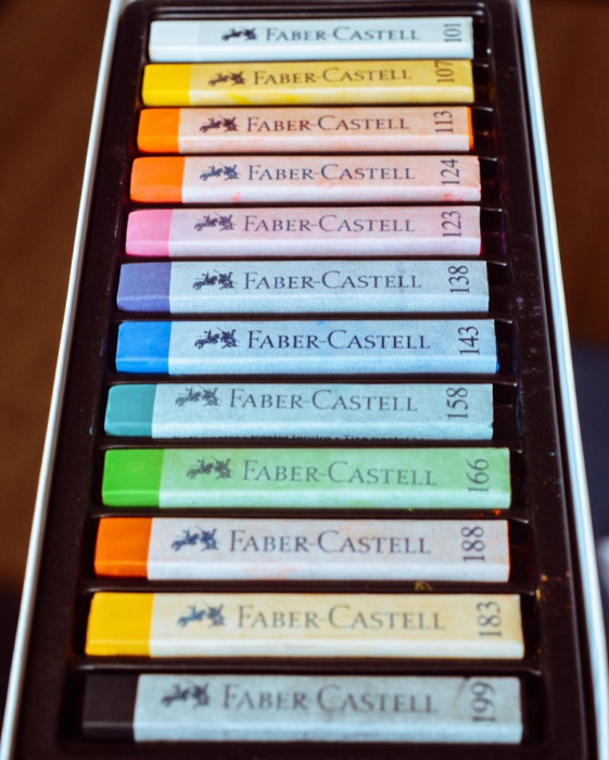 Cutie Creioane Pastel Soft 12 culori Faber-Castell [3]