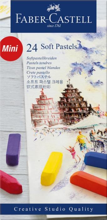 Cutie Creioane Pastel Soft Mini 24 culori Faber-Castell [0]