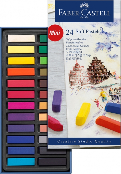 Cutie Creioane Pastel Soft Mini 24 culori Faber-Castell [1]