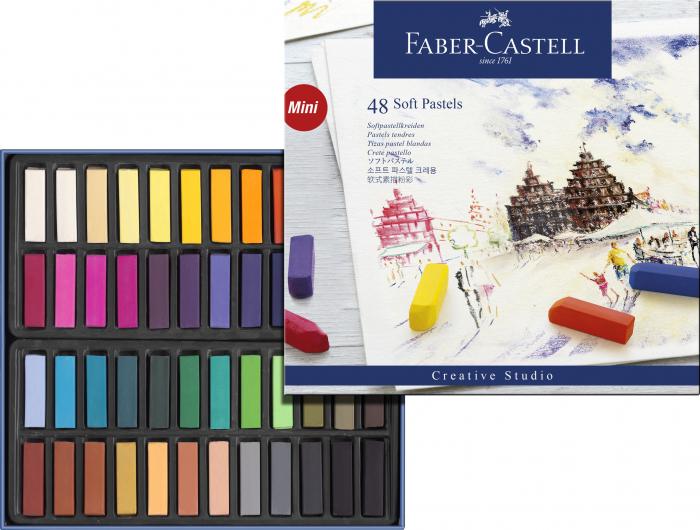 Cutie Creioane Pastel Soft Mini 48 culori Faber-Castell [1]