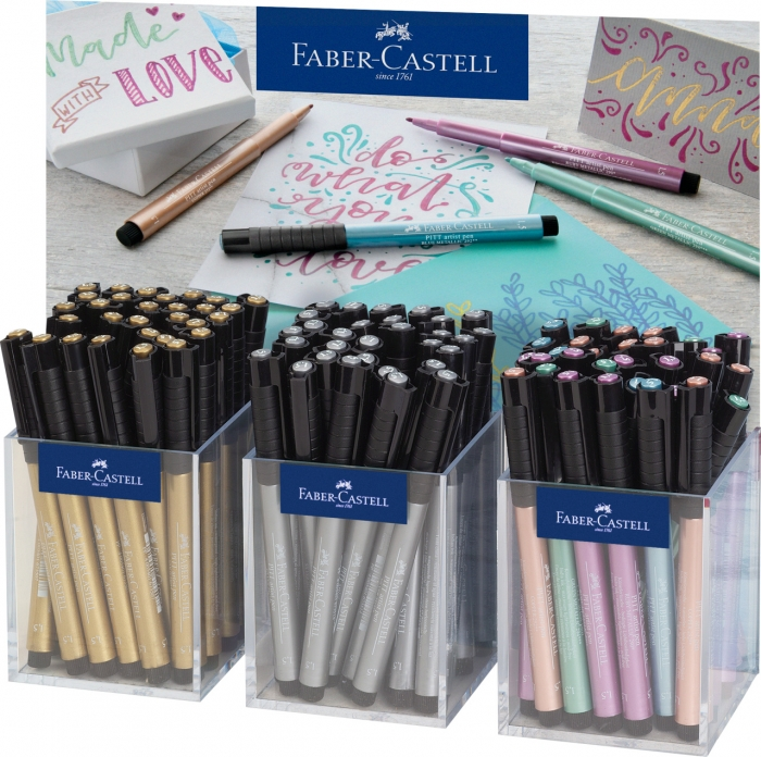 Display Pitt Artist Pen Metalic 3x30 Buc Faber-Castell 0