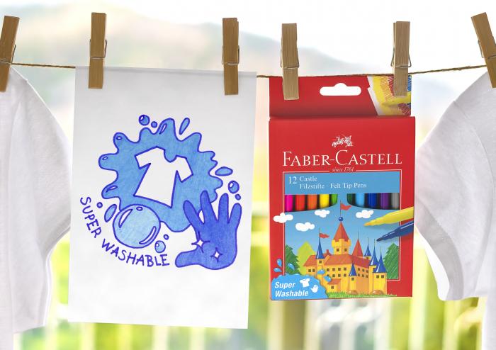 Carioci Super Washable 24 culori Faber-Castell 2