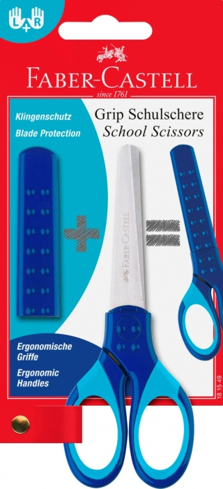 FOARFECA SCOLARA CU PROTECTIE GRIP ALBASTRA FABER-CASTELL [0]