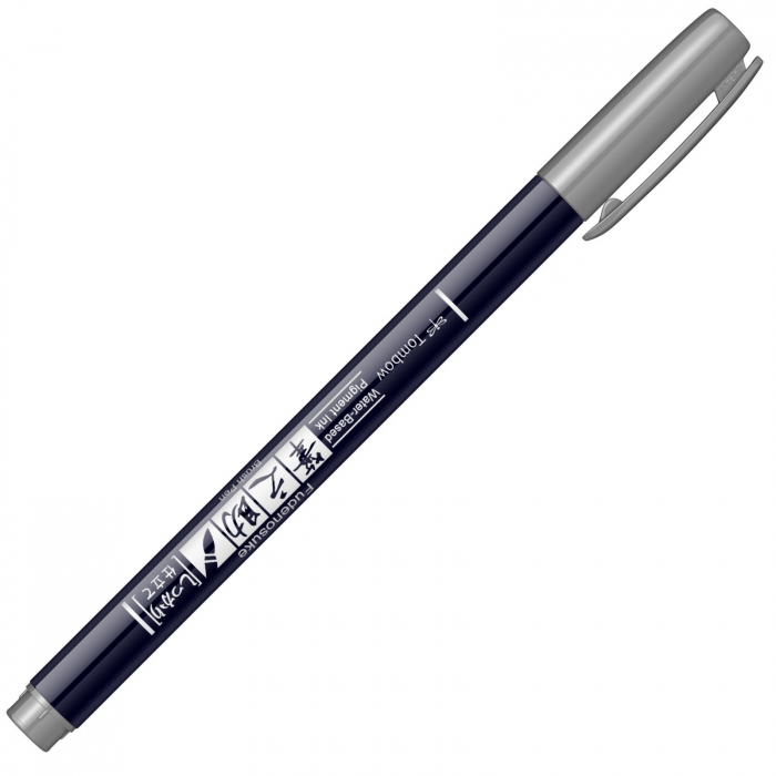 Marker Caligrafic Fudenosuke Hard Small Writing Vivid Grey, Tombow [1]