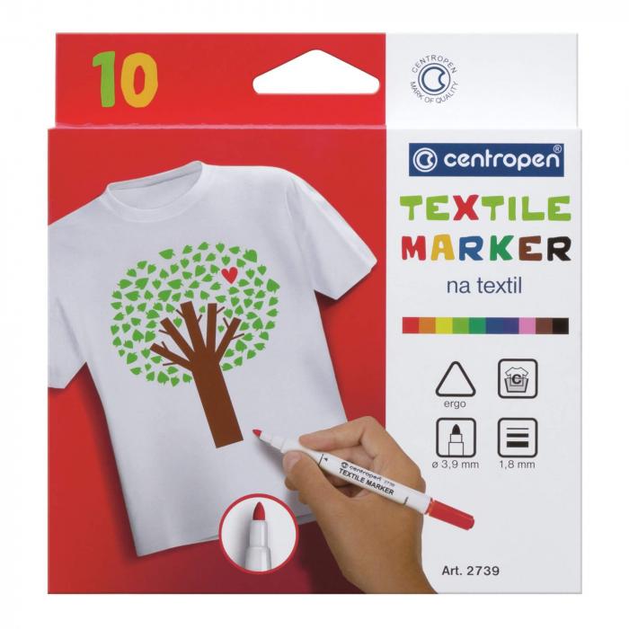 Marker pentru Textile 10 culori/ set Centopen [0]