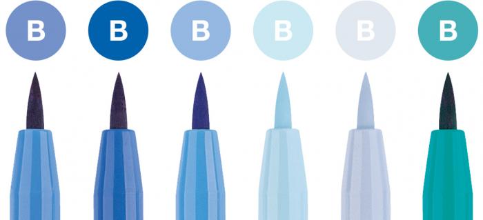 Pitt Artist Pen Set 6 Buc Albastru Faber-Castell [1]
