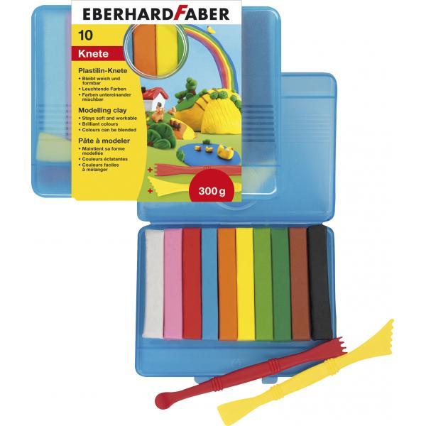 PLASTILINA 10 CULORI CUTIE PLASTIC EberhardFaber [0]