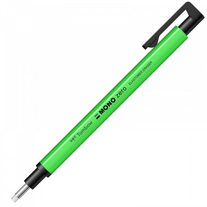 Radiera Mecanica Tombow Mono Zero Round Neon Green [0]