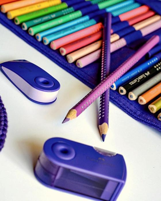Rollup 20 creioane colorate Sparkle +1 Creion Sparkle + accesorii Faber-Castell [1]