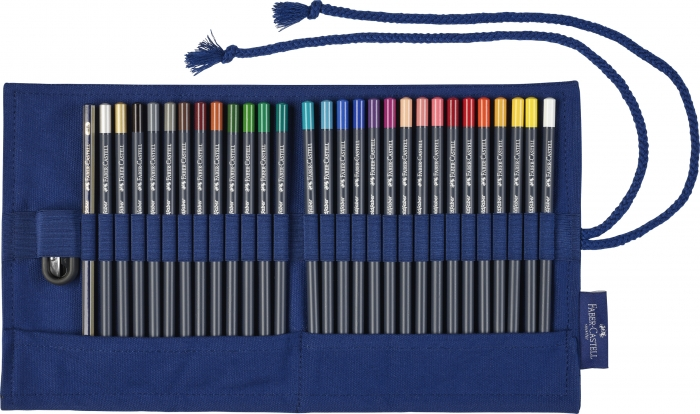 Rollup 27 Creioane Colorate Goldfaber+Accesorii Faber-Castell 0