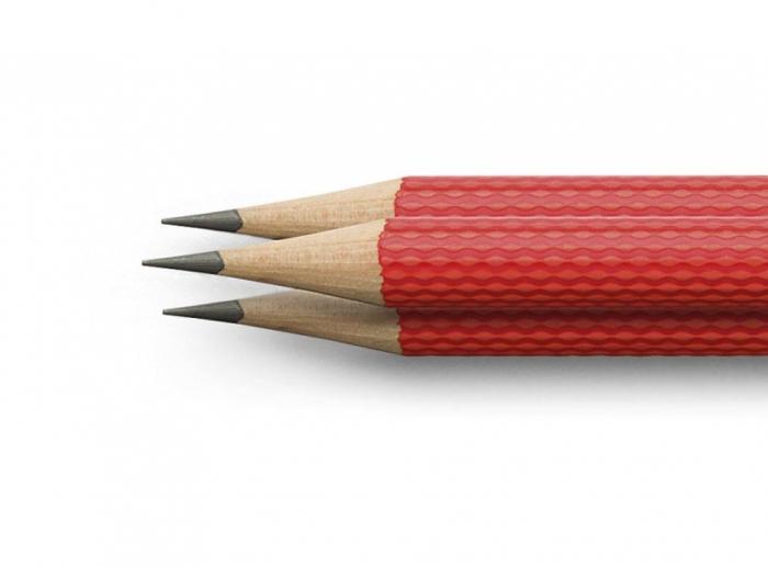 SET 3 CREIOANE GRAFIT GUILLOCHE India Red Graf Von Faber Castell [2]