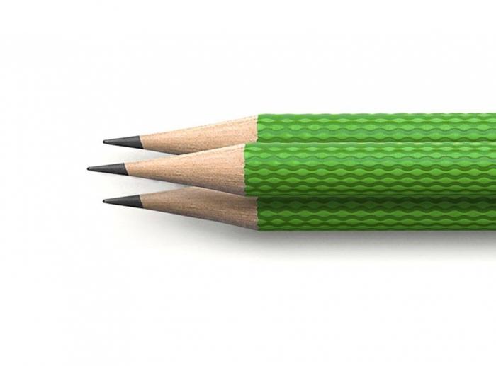 SET 3 CREIOANE GRAFIT GUILLOCHE VIPER GREEN Graf Von Faber Castell 1