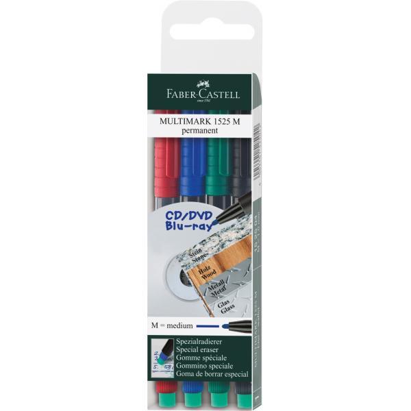 Set 4 culori Marker Permanent M Multimark Faber-Castell 0