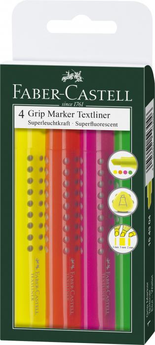 Set 4 culori Textmarker Grip 1543 Faber-Castell 0