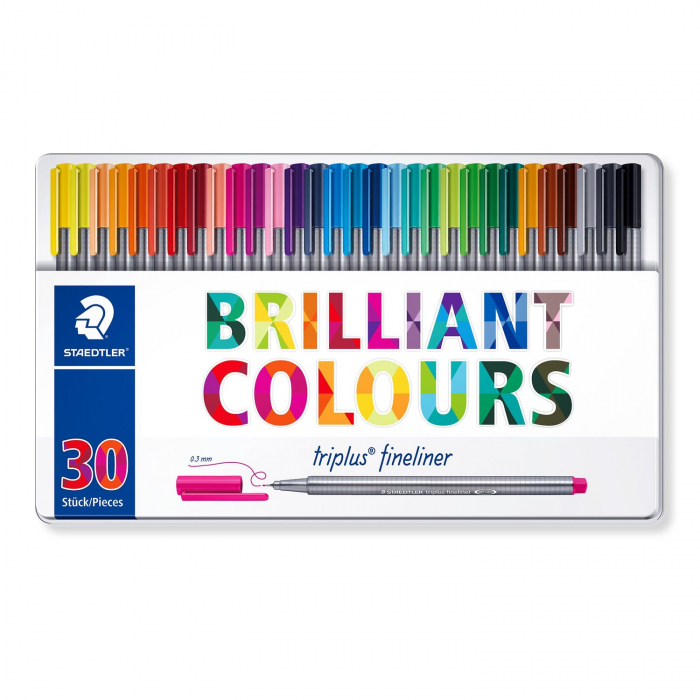 Set 30 culori Fineliner Triplus 0.3 mm Staedtler [0]