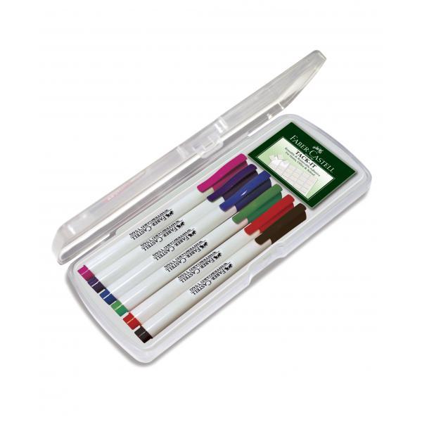 Set 6 culori Standard Marker Whiteboard Slim 1560 Faber-Castell 1