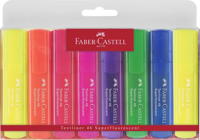 Set 8 culori Textmarker Superfluorescent 1546 Faber-Castell 0