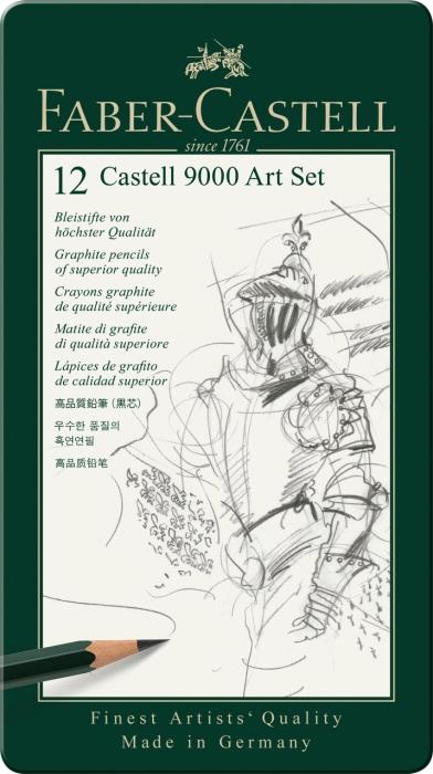 Set Arta Creion Grafit Castell 9000 Faber-Castell 1