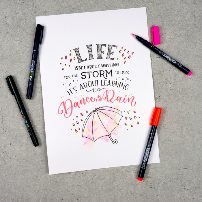 Set Creativ LETTERING Have Fun @ Home Sets Tombow [3]