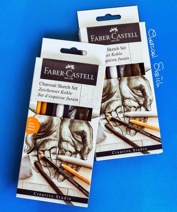 Set Desen Carbune Faber-Castell 2