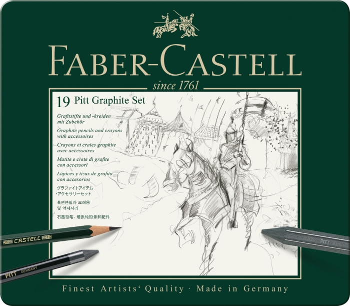 Set Pitt Monochrome Grafit 19 Buc Faber-Castell 1