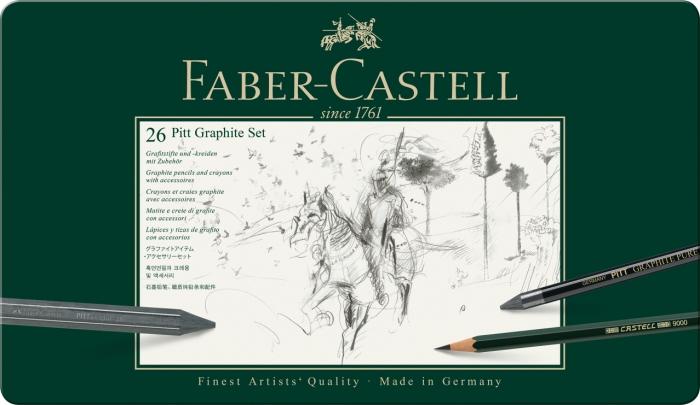 Set Pitt Monochrome Grafit 26 Buc Faber-Castell [1]