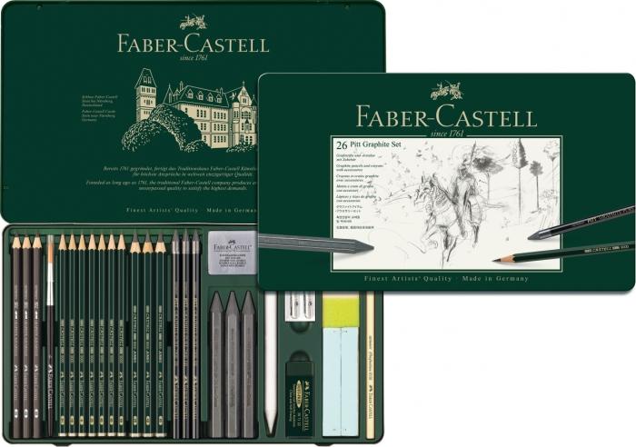 Set Pitt Monochrome Grafit 26 Buc Faber-Castell [0]