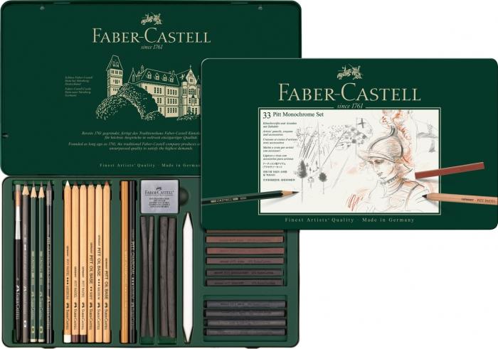 Set Pitt Monochrome Grafit+Carbune+Pastel 33 Buc Faber-Castell 0