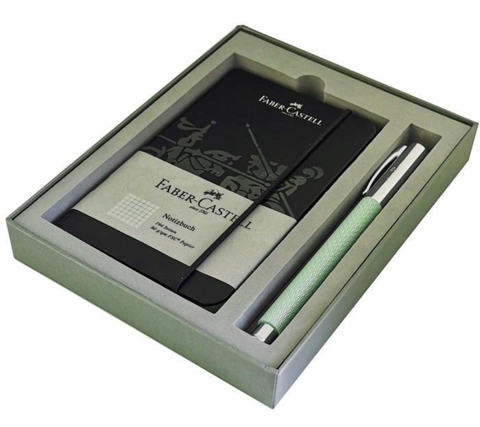 Set Promo Stilou Ambition OpArt Mint Green + Agenda A6 Faber-Castell [0]
