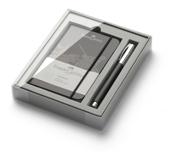 Set Promo Stilou Ambition OpArt Black Sand + Agenda A6 Faber-Castell 0