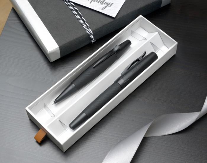 Set Stilou + Pix E-motion Pure Black in Cutie Design Faber-Castell [1]