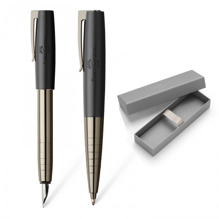 Set Stilou + Pix Loom Gunmetal Shiny Faber-Castell [0]