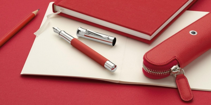 Stilou Guilloche India Red Graf Von Faber-Castell 3